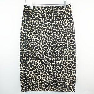 Body By Victoria  Pencil  Skirt Animal Print